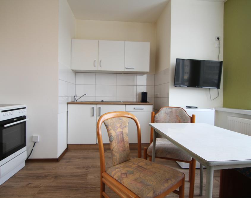 Küche Apartment Zimmer Hotel Mentelin Berlin